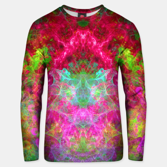 Thumbnail image of Hallucinogenic Hibiscus Flowers (visionary, fractals) Cotton sweater, Live Heroes