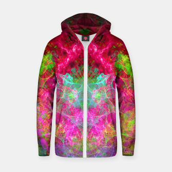 Thumbnail image of Hallucinogenic Hibiscus Flowers (visionary, fractals) Cotton zip up hoodie, Live Heroes