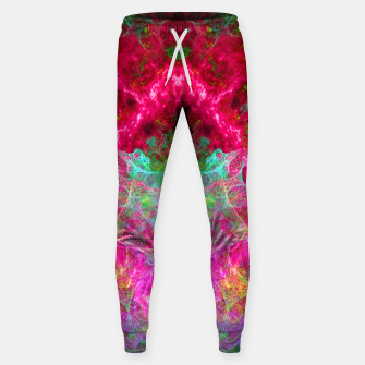 Thumbnail image of Hallucinogenic Hibiscus Flowers (visionary, fractals) Cotton sweatpants, Live Heroes