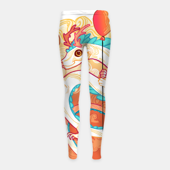 Thumbnail image of Up in the Clouds Leggings para niña, Live Heroes