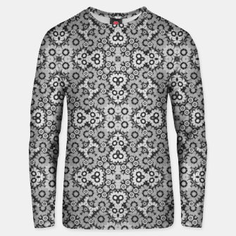 Thumbnail image of Geometric Stylized Floral Print Cotton sweater, Live Heroes