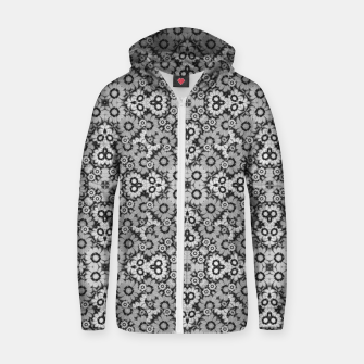 Thumbnail image of Geometric Stylized Floral Print Cotton zip up hoodie, Live Heroes