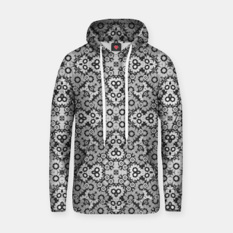 Thumbnail image of Geometric Stylized Floral Print Cotton hoodie, Live Heroes
