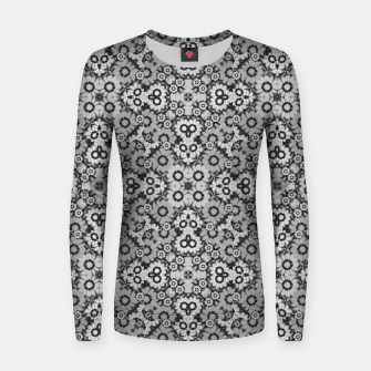 Thumbnail image of Geometric Stylized Floral Print Woman cotton sweater, Live Heroes