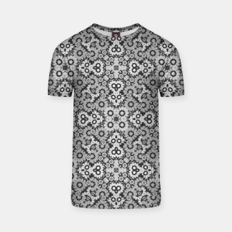 Thumbnail image of Geometric Stylized Floral Print T-shirt, Live Heroes
