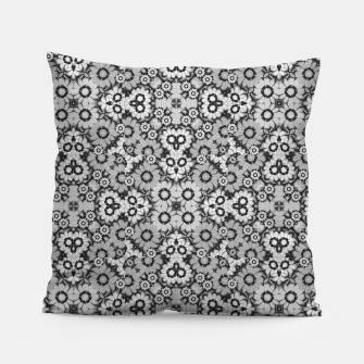 Thumbnail image of Geometric Stylized Floral Print Pillow, Live Heroes