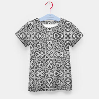 Thumbnail image of Geometric Stylized Floral Print Kid's t-shirt, Live Heroes