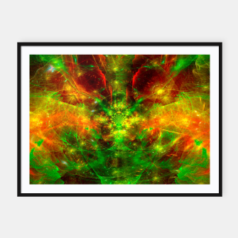 Thumbnail image of Crab Stardust- The Mind Opens (abstract, visionary, fractal) Framed poster, Live Heroes