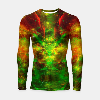 Thumbnail image of Crab Stardust- The Mind Opens (abstract, visionary, fractal) Longsleeve rashguard , Live Heroes