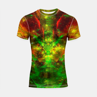 Thumbnail image of Crab Stardust- The Mind Opens (abstract, visionary, fractal) Shortsleeve rashguard, Live Heroes