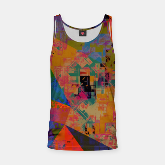 Miniaturka psychedelic geometric triangle pattern abstract with painting abstract background in orange and blue Tank Top, Live Heroes