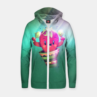 Strawberry Cactus Cotton zip up hoodie thumbnail image