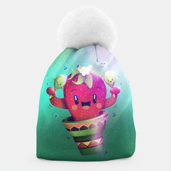 Thumbnail image of Strawberry Cactus Beanie, Live Heroes