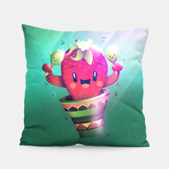Strawberry Cactus Pillow thumbnail image