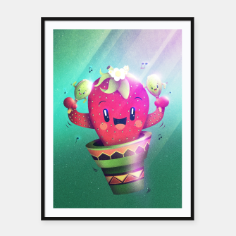 Strawberry Cactus Framed poster thumbnail image