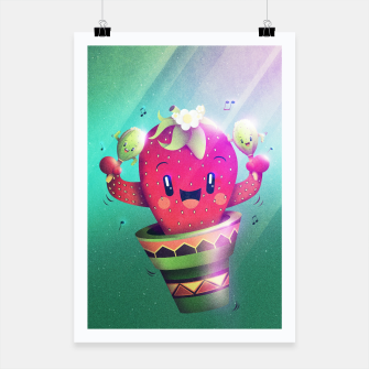 Thumbnail image of Strawberry Cactus Poster, Live Heroes