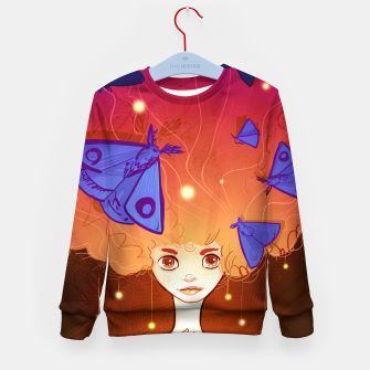Miniature de image de Moths to a Flame Kid's sweater, Live Heroes