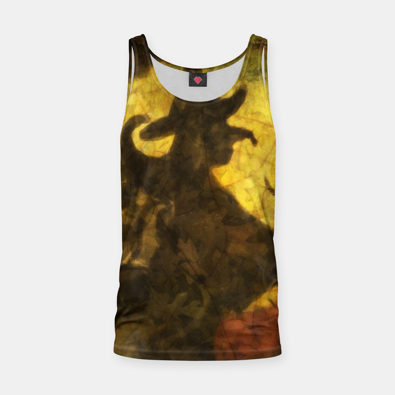 Witch on Texture With Moon Tank Top, Live Heroes