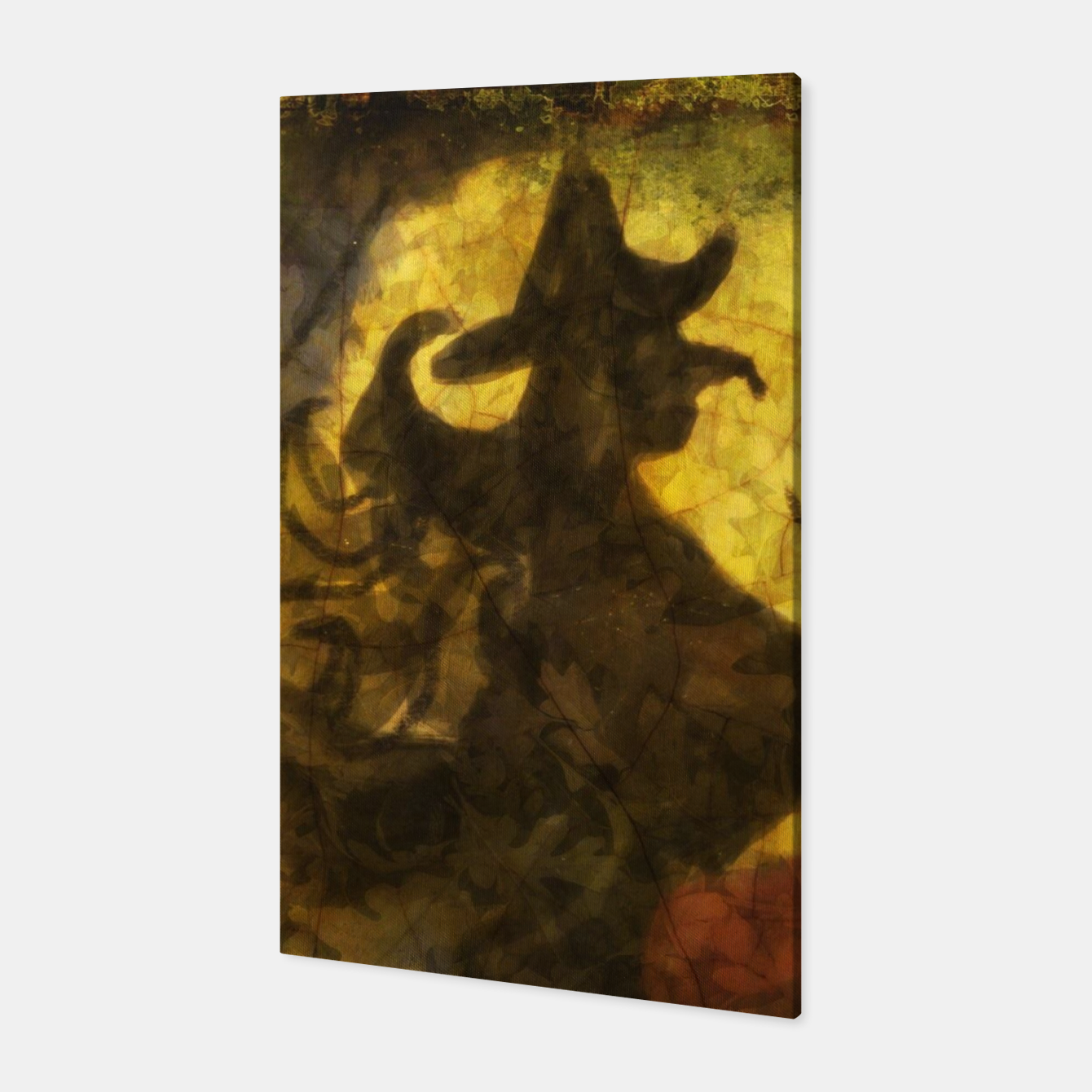Witch on Texture With Moon Canvas, Live Heroes