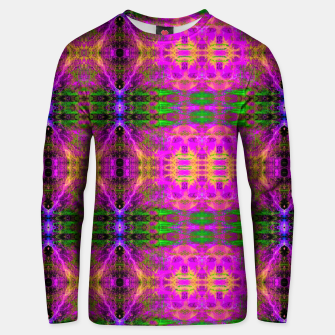Thumbnail image of Electric Skull Pattern II (fluorescent, ultraviolet, uv reactive, blacklight) Cotton sweater, Live Heroes
