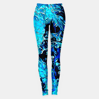 Thumbnail image of gxp border collie jumping in water vector art crisp winter Leggings, Live Heroes