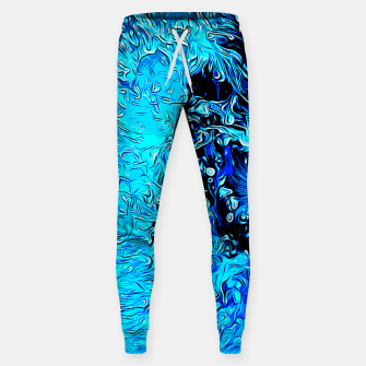 Thumbnail image of gxp border collie jumping in water vector art crisp winter Cotton sweatpants, Live Heroes