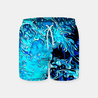 Thumbnail image of gxp border collie jumping in water vector art crisp winter Swim Shorts, Live Heroes
