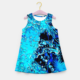 Thumbnail image of gxp border collie jumping in water vector art crisp winter Girl's summer dress, Live Heroes