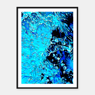 Thumbnail image of gxp border collie jumping in water vector art crisp winter Framed poster, Live Heroes