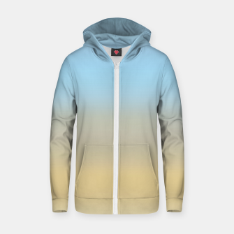 Abstract ombre ocean beach Zip up hoodie thumbnail image
