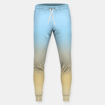 Abstract ombre ocean beach Sweatpants thumbnail image