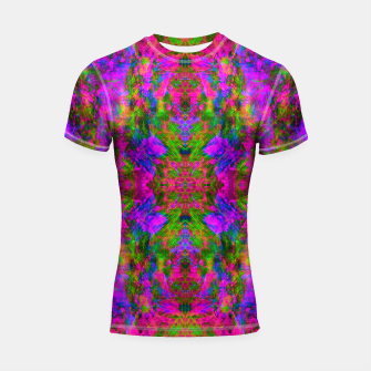 Thumbnail image of Floral Madness III (abstract, psychedelic) Shortsleeve rashguard, Live Heroes