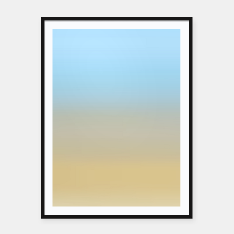 Abstract ombre ocean beach Framed poster thumbnail image