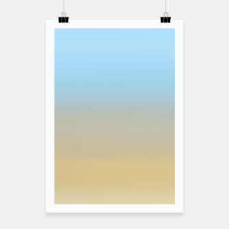 Abstract ombre ocean beach Poster thumbnail image