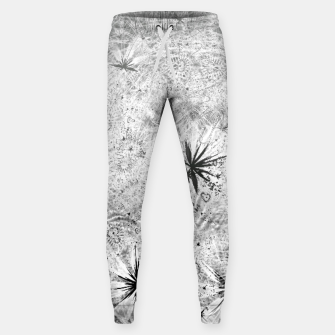 Thumbnail image of Snowball (winter, abstract, black and white) Cotton sweatpants, Live Heroes