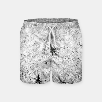 Thumbnail image of Snowball (winter, abstract, black and white) Swim Shorts, Live Heroes