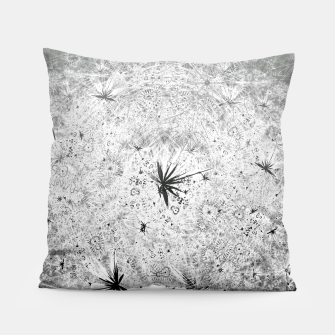 Thumbnail image of Snowball (winter, abstract, black and white) Pillow, Live Heroes