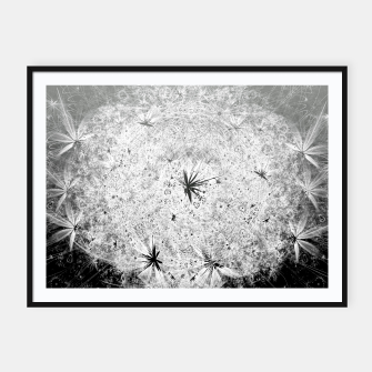 Thumbnail image of Snowball (winter, abstract, black and white) Framed poster, Live Heroes