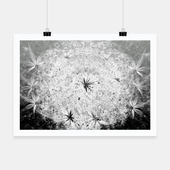 Thumbnail image of Snowball (winter, abstract, black and white) Poster, Live Heroes