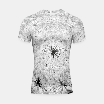 Thumbnail image of Snowball (winter, abstract, black and white) Shortsleeve rashguard, Live Heroes