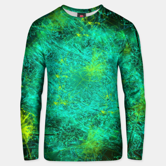Thumbnail image of Fractured Galaxy (abstract, seafoam green) Cotton sweater, Live Heroes