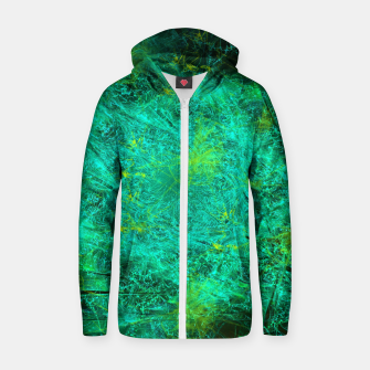 Thumbnail image of Fractured Galaxy (abstract, seafoam green) Cotton zip up hoodie, Live Heroes
