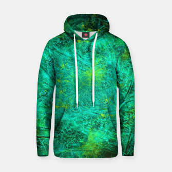 Thumbnail image of Fractured Galaxy (abstract, seafoam green) Cotton hoodie, Live Heroes