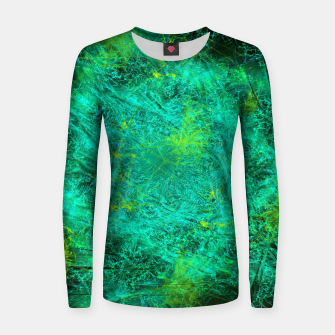 Thumbnail image of Fractured Galaxy (abstract, seafoam green) Woman cotton sweater, Live Heroes