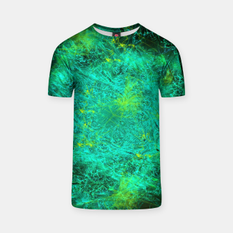 Thumbnail image of Fractured Galaxy (abstract, seafoam green) T-shirt, Live Heroes