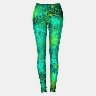 Thumbnail image of Fractured Galaxy (abstract, seafoam green) Leggings, Live Heroes