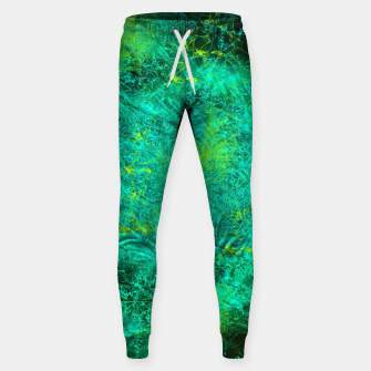 Thumbnail image of Fractured Galaxy (abstract, seafoam green) Cotton sweatpants, Live Heroes