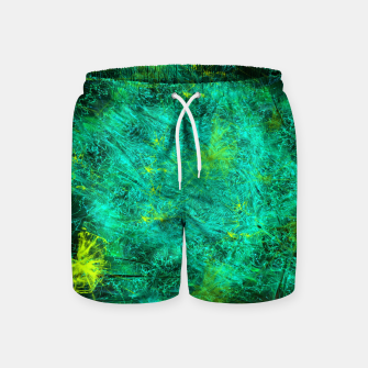 Thumbnail image of Fractured Galaxy (abstract, seafoam green) Swim Shorts, Live Heroes