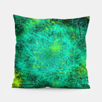 Thumbnail image of Fractured Galaxy (abstract, seafoam green) Pillow, Live Heroes
