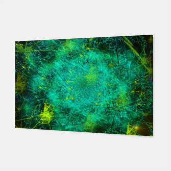 Thumbnail image of Fractured Galaxy (abstract, seafoam green) Canvas, Live Heroes